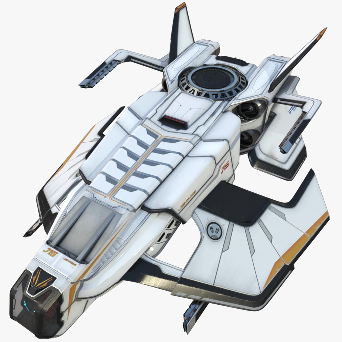 3D sci-fi spaceship concept pbr