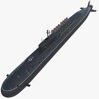 project 955 borei class model