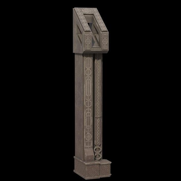 fantasy column 3D model