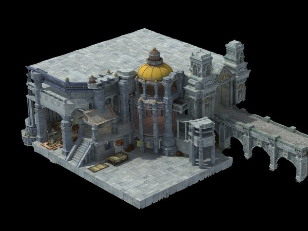ancient castle 3D