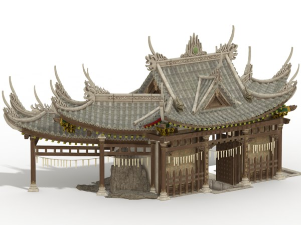 3D ancient chinese house model