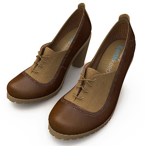 3d model women timberland shoes