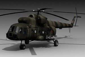 mil mi17 helicopter 3d obj