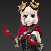 3D gothic girl model
