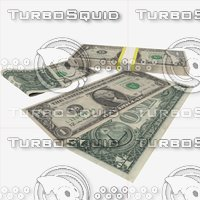 1 dollar banknote 3d obj