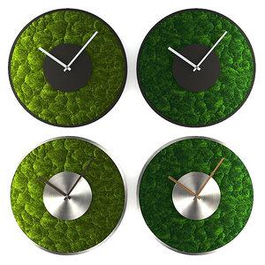 clock mosstime moss 3D
