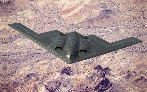 b2a stealth bomber spirit 3d model