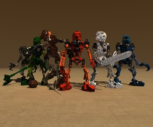 3d model lego bionicle