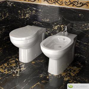 toilet bidet duravit 3d model