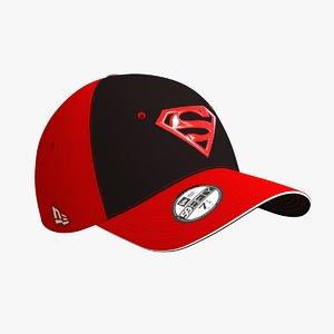 superman cap 3D