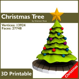 3d model of cartoon christmas