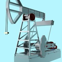 3d model rocking machine oil