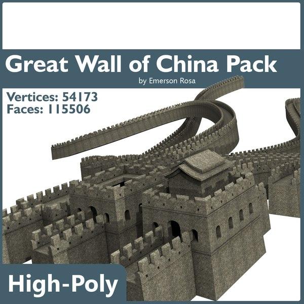 3d model great wall