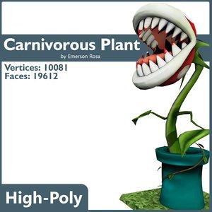 3d carnivorous plant model