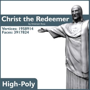 Christ the Redeemer - High-poly
