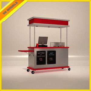 3d model of food cart