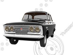 ussr car moskwich 408 3d obj