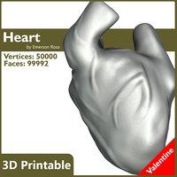 obj heart valentine print