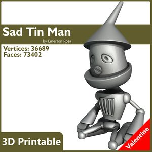 3d tin man sad