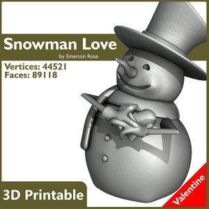 3d love! printable model