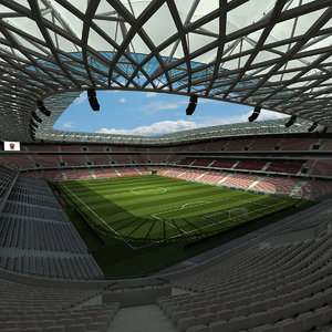 allianz riviera stadium football 3d model