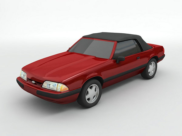 3D 1989 mustang convertible model