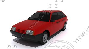 3d model of car russian 2109