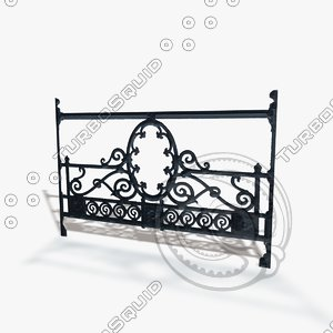 seamless railing 3d model