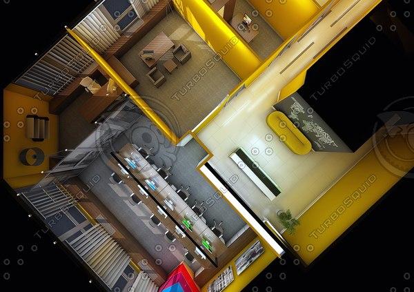 office interior c4d