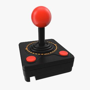 joystick video controller 3d model
