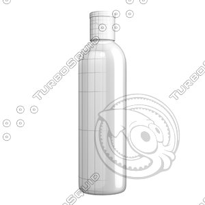 3d bottle shampoo cap model