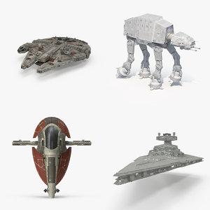 3d model star wars vehicle