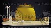 reactor atomic 3D model