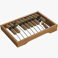 3D old abacus model