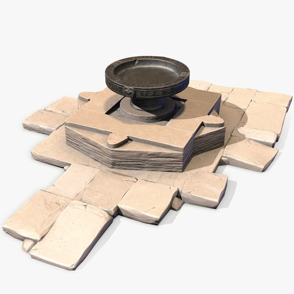 ready ancient egyptian altar 3D model
