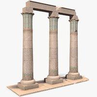 ready egyptian columns 3D model