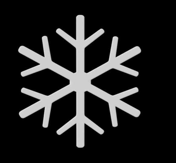 snowflake snow 3D