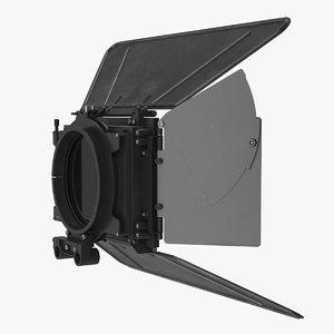 3D camera matte box