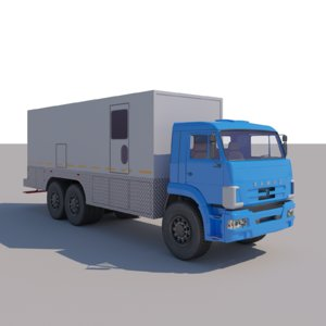 kamaz mobile laboratory technical 3D model