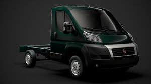 3D fiat ducato chassis truck model