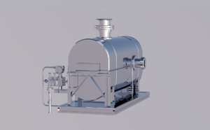 3D model oil heat exchanger