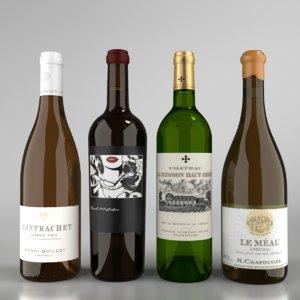 blender white wine bottle 3D