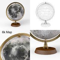 3D moon globe - apollo lunar