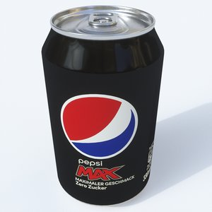 3D model softdrink pepsi