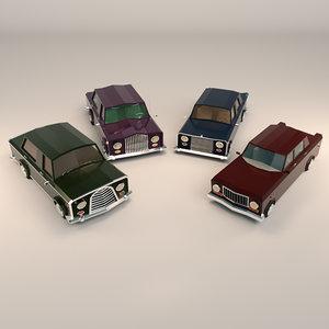 sedan car sed 3D model