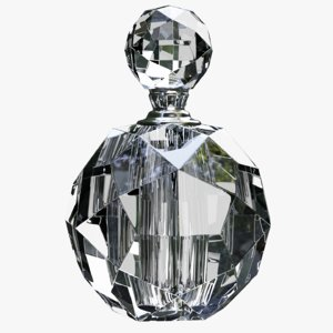 art deco crystal perfume bottle model
