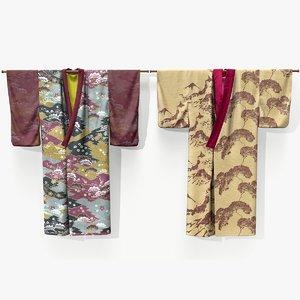 3D ready hanging kimono