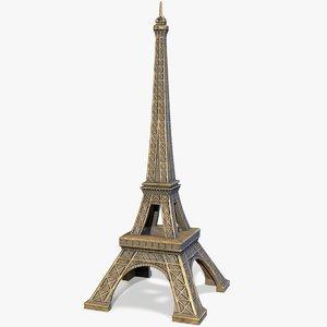 ready eiffel tower souvenir 3D model