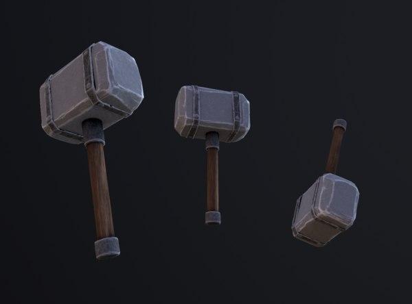 3D hammer stylized