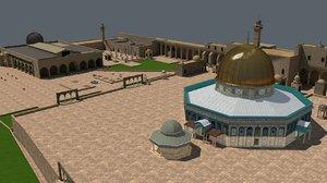 3D al-aqsa mosque model